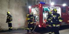 Vier Personen in brennendem Tunnel eingeschlossen