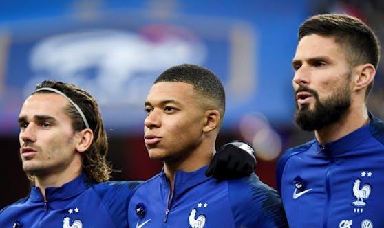 Griezmann, Mbappé, Giroud