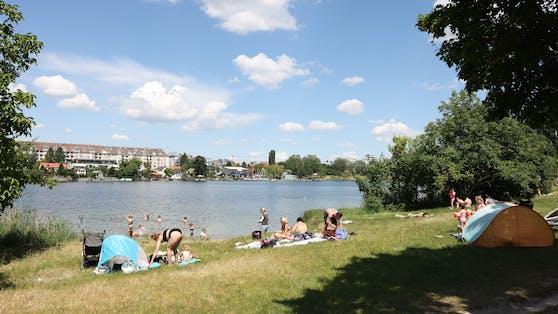 """Auf der """"Romawiese"""" in Wien-Floridsdorf sind 3G-Regeln und Maske kein Thema."""