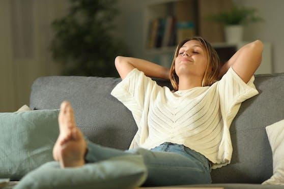 Augen zu und entspannen - auch das ist wichtig!