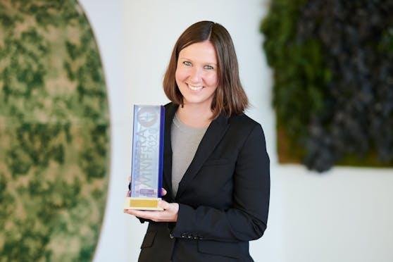 """Stefanie Riegler gewann den WINFRA-Preis in der Kategorie """"Online""""."""