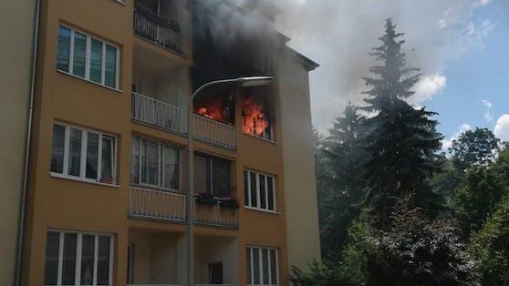 Zimmerbrand in Wien-Meidling