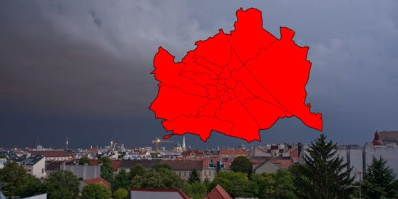 In ganz Wien herrscht die rote Wetterwarnstufe.