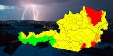 Warnstufe Rot! Heftige Gewitter treffen Wien und NÖ