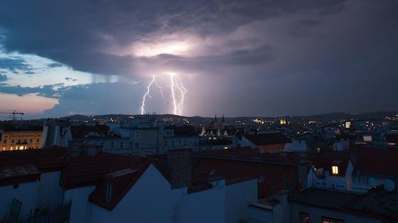 Ein Gewitter über Wien. Archivbild