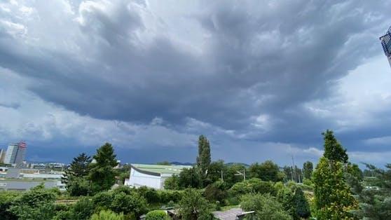 Dunkle Wolken zogen durch Wien und Niederösterreich.