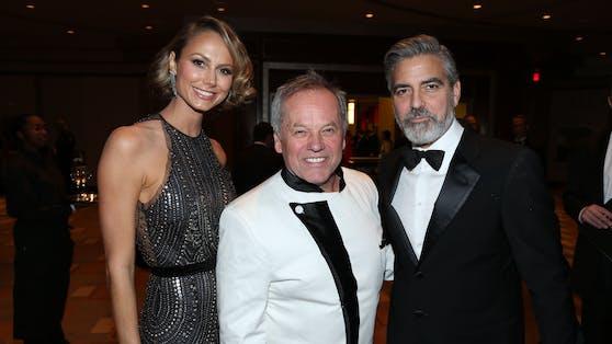 Holt Wolfgang Puck jetzt auch Stars wie George Clooney ( mit Stacy Keibler) nach Wien?