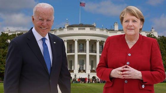 US-Präsident Joe Biden und Kanzlerin Angela Merkel