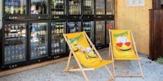 """Linzer Biergarten-Wirt """"hopft"""" auf seine neue Wand"""