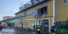 Frau (82) bei Wohnhausbrand in Aggsbach-Dorf verletzt