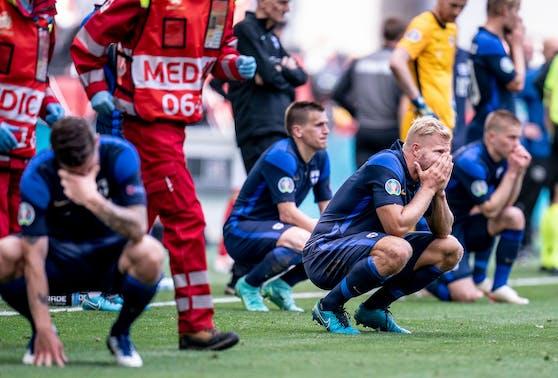 Die Finnland-Spieler bangten um das Leben von Christian Eriksen