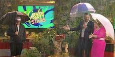 """Strömender Regen bei""""Gartenparty der Stars"""""""