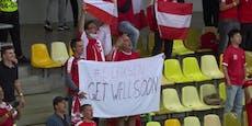 Österreich-Fans punkten mit Botschaft an Eriksen