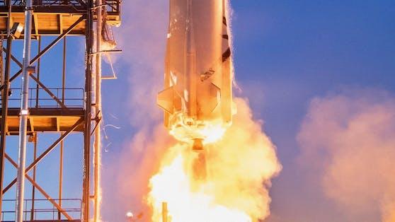 """Mit der Rakete """"New Shepard"""" soll das Abenteuer Weltall am 20. Juli starten."""