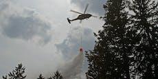 Waldbrand– Helfer aus der Luft probten Ernstfall