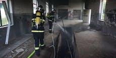 Brandstiftung? Feuer im alten Lagerhaus in Neunkirchen