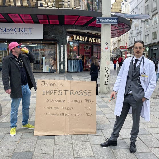 Die beiden Wiener waren auf der Mariahilfer Straße anzutreffen.