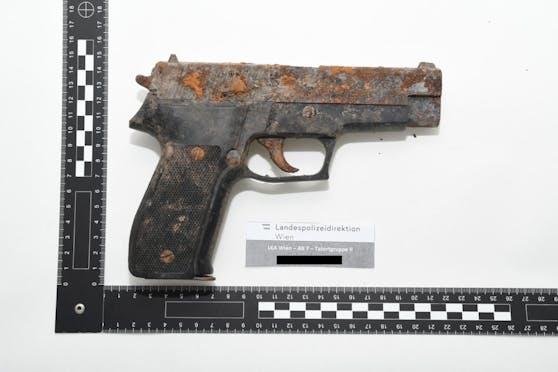 Die sichergestellte Pistole.