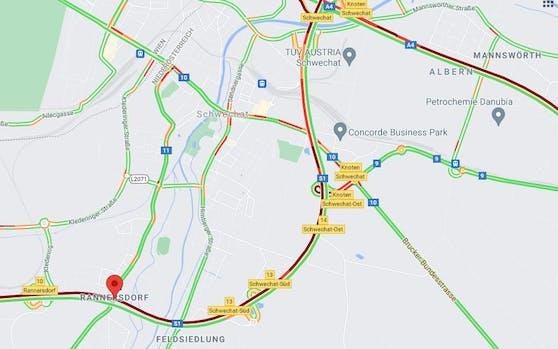 Der Tunnel Rannersdorf ist gesperrt.