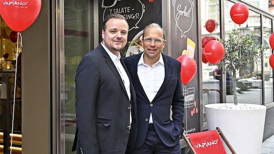 Vapiano-Geschäftsführer Philipp Zinggl und Eigentümer Josef Donhauser wollen aufgrund des großen Erfolgs an der Pizza-Auswahl nicht rütteln.