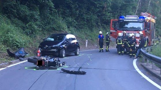 Sonntagabend kam es in Stubenberg (ST) zu einem schweren Motorrad-Unfall.