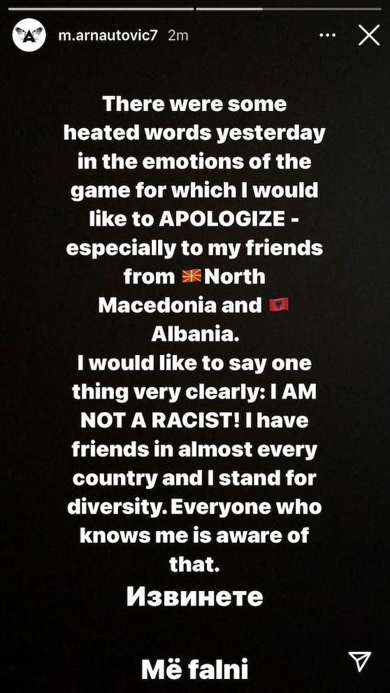 Marko Arnautovic entschuldigt sich via Instagram.
