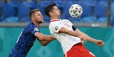 Lewandowski verliert mit Polen gegen Slowakei 1:2