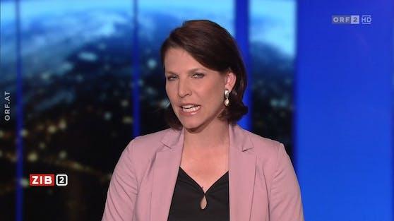 Verfassungsministerin Karoline Edtstadler (ÖVP) wurde in der ZiB2 grantig.
