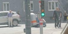 Biker nach Pkw-Crash mit Kopfverletzung im Spital