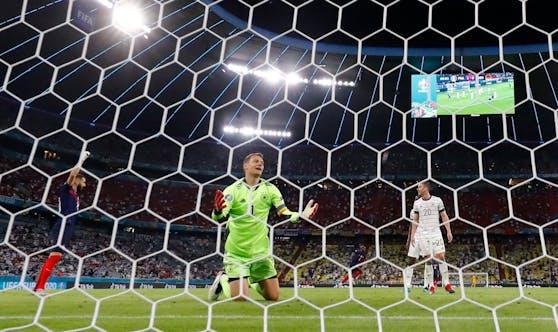 Geschlagen: Deutschland-Goalie Manuel Neuer