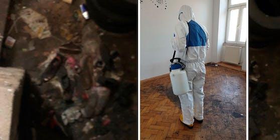 Eine Wohnung in den Horror-Haus wurde am Dienstag desinfiziert und versiegelt.