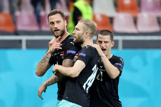 Marko Arnautovic (l.): Mit ihm schießen wir in der Ära Foda 0,56 Tore mehr pro Spiel