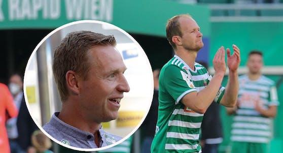Mario Sonnleitner sucht nach dem Rapid-Abschied einen neuen Klub. Robert Ibertsberger hält ihn fit.