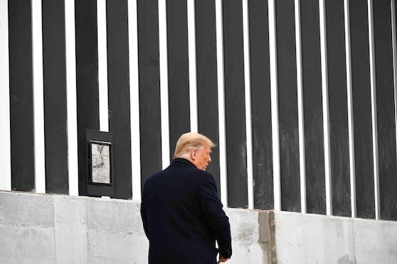 US-Präsident Joe Biden stellte den Bau an seiner Grenzmauer ein: Donald Trump in Texas. (12. Januar 2021)