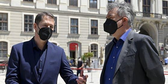 Vizekanzler Werner Kogler (Grüne) und ÖFB-Teamchef Franco Foda