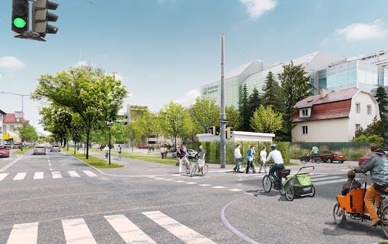 Das Kreuzungsplateau Altmannsdorfer Straße – Belghofergasse wird erneuert.