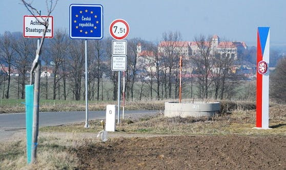 Der Grenzübergang nach Tschechien.