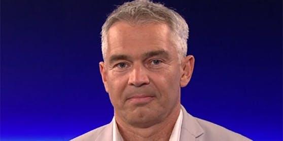 """Gerald Gartlehner, Epidemiologe an der Donau-Universität Krems, in der ORF-""""ZiB 2""""."""