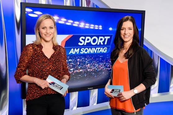 Tiroler Sportmoderator Othmar Peer kann Fußball-Kommentatorinnen wie Alina Zellhofer oder Karoline Zobernig (v.l.) nicht zuhören.