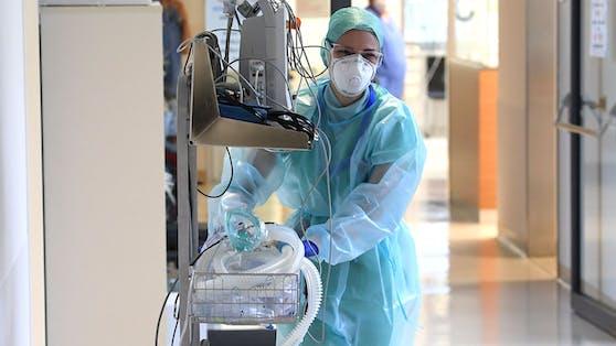 Die Corona-Intensivstation eines heimischen Spitals. Die Delta-Mutation bereitet Experten große Sorge.