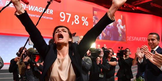 Am Parteitag 2018 wählten 97,8Prozent Rendi.