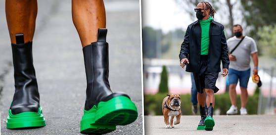 Lewis Hamilton und seine neuen Schuhe
