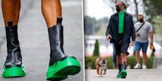 Was sind das für Schuhe? Hamilton zieht Regenreifen auf