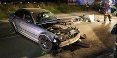 Raser-Crash endet mit Schwerverletztem, Stromausfall