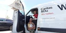 Caritas sammelt Lebensmittel für Menschen in Armut