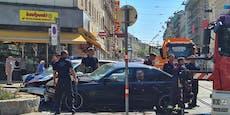 Polizei kollidiert mit BMW – Helikopter muss landen