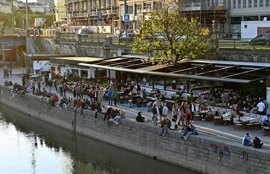 Blick auf den Donaukanal in Wien (Archivfoto)