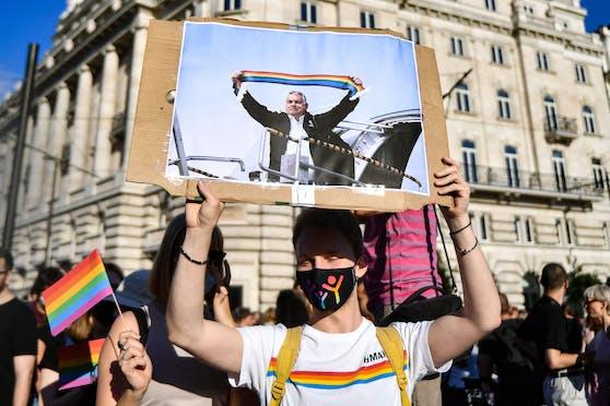 Nicht nur in Ungarn wird das neue Gesetz, das sich gegen Homosexualität richtet, kritisiert.