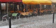 Starke Gewitter ziehen jetzt über Teile Österreichs