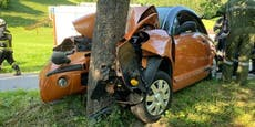 Pkw-Lenker prallte frontal gegen Baum